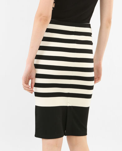 Gonna midi bodycon nero