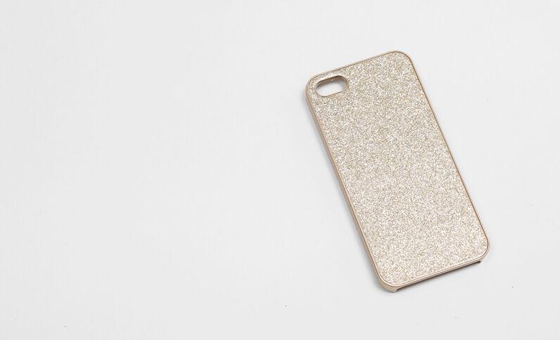 Custodia smartphone glitter beige cipria