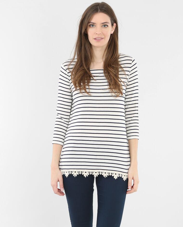 Camiseta con espalda cruzada crudo