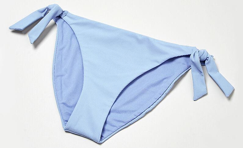 Bikinihöschen mit Wabenmuster Blau