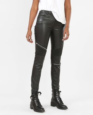 Pantalon biker noir