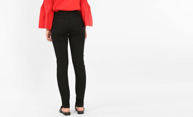 Jeans skinny tiro medio negro