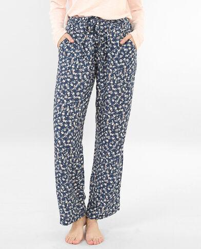 Fleurige pyjamabroek indigoblauw
