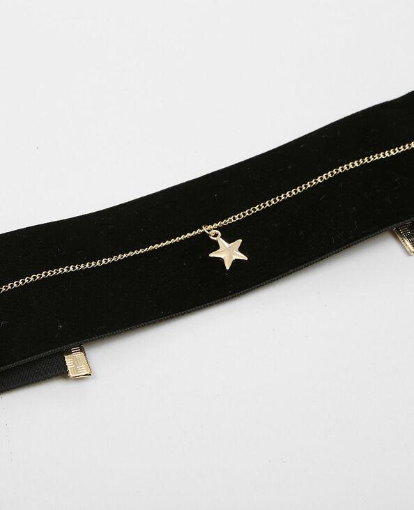 Colliers choker velours et étoile doré
