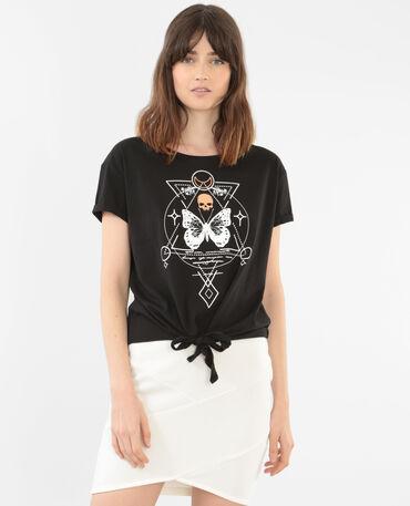 Camiseta con nudo negro