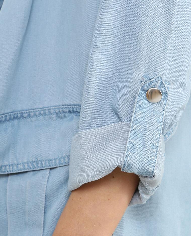 Weich fließende Jacke aus Tencel Hellblau