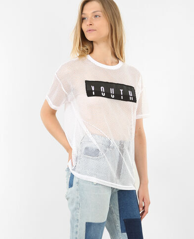Sportshirt van netstof wit