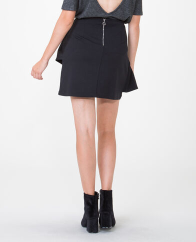 Falda con volantes negro