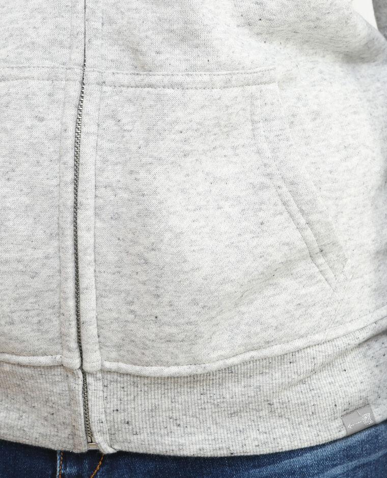 Sudadera con cremallera forrada gris
