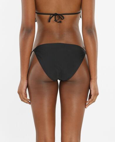 Culotte de bain brodée noir