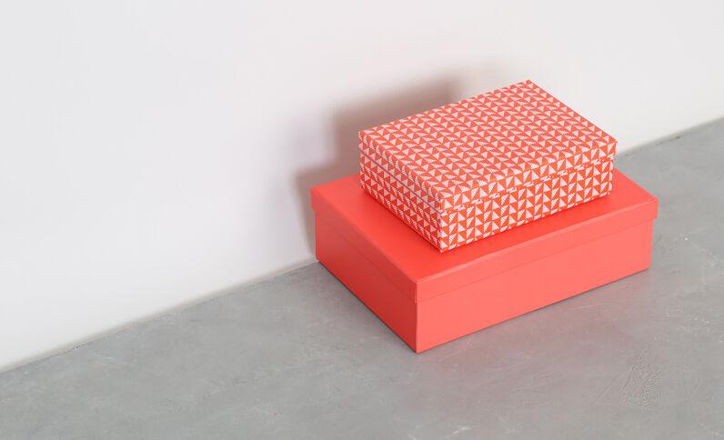 Set aus 2 Pappschachteln Rosa