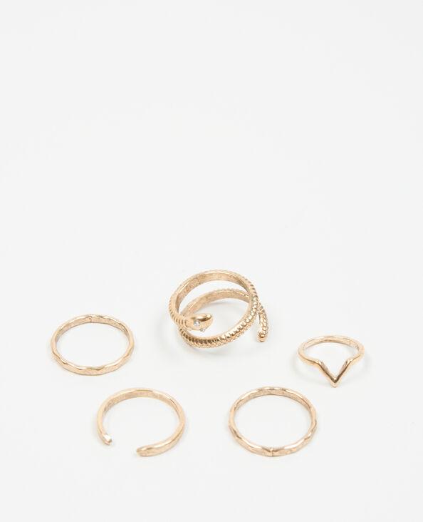 Anelli in metallo spazzolato dorato
