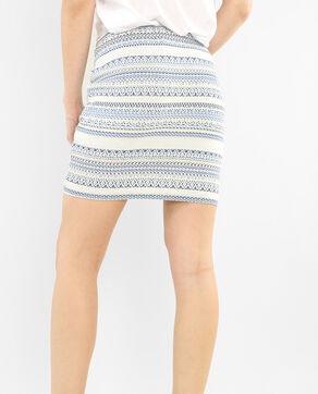 Gonna bodycon jacquard écru