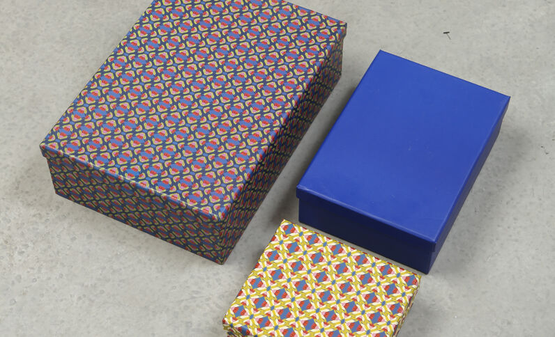 Schachteln im 3er-Pack Beige