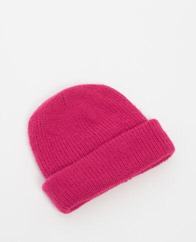 Mütze mit Umschlag Pink