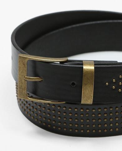 Cintura nera piccole borchie dorate nero