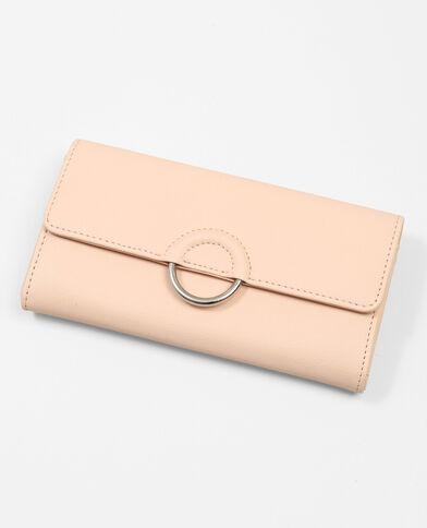 Portefeuille avec anneau rose