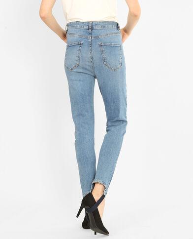 Jeans skinny de tubo azul celeste