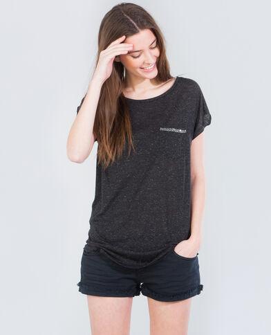 T-Shirt verziert mit Schmuck Anthrazitgrau