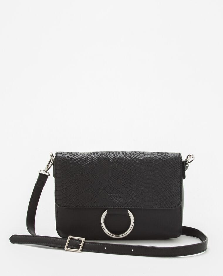 kleine schwarze handtasche in kroko optik 902603899a08. Black Bedroom Furniture Sets. Home Design Ideas