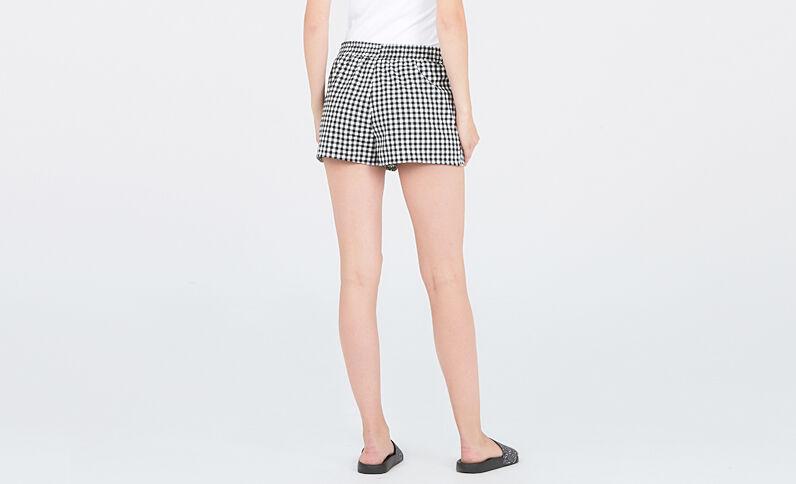 Short homewear vichy noir
