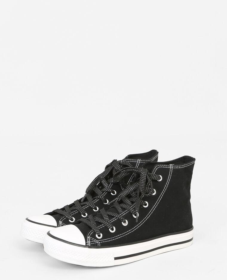 Baskets en toile noir