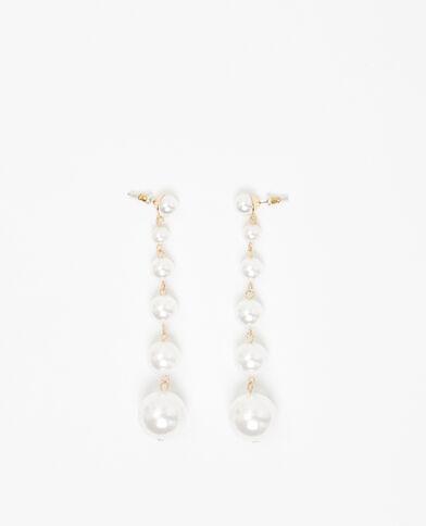Pendientes de perla marfil