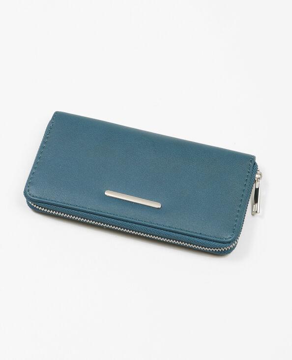 Lange portefeuille eendenblauw