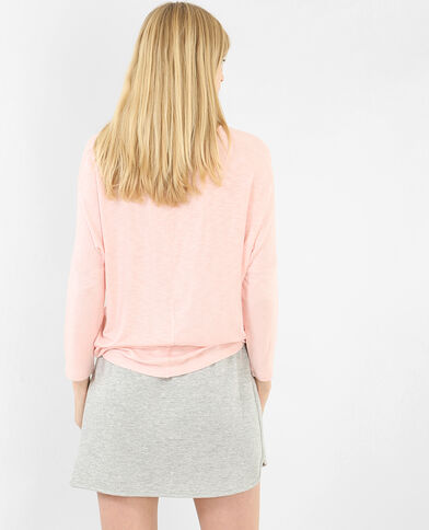 Camiseta mangas murciélago rosa