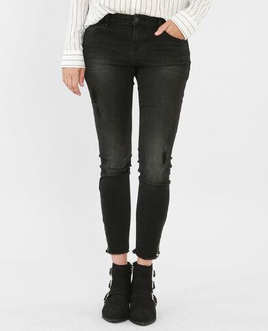 Jeans skinny con zip nero