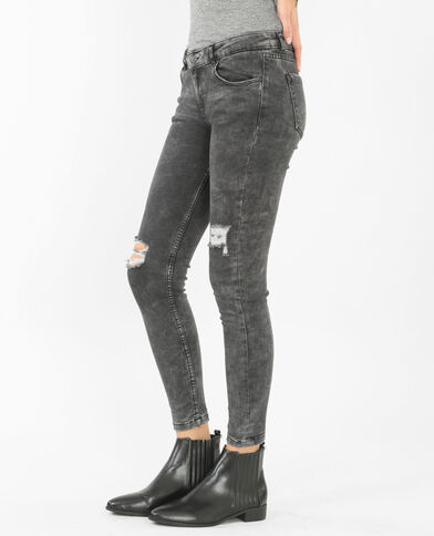 Jegging destroy gris