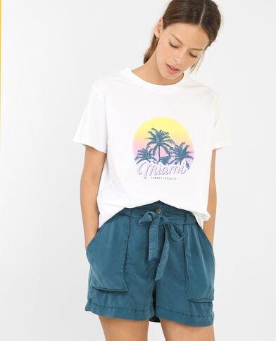 T-shirt Miami wit