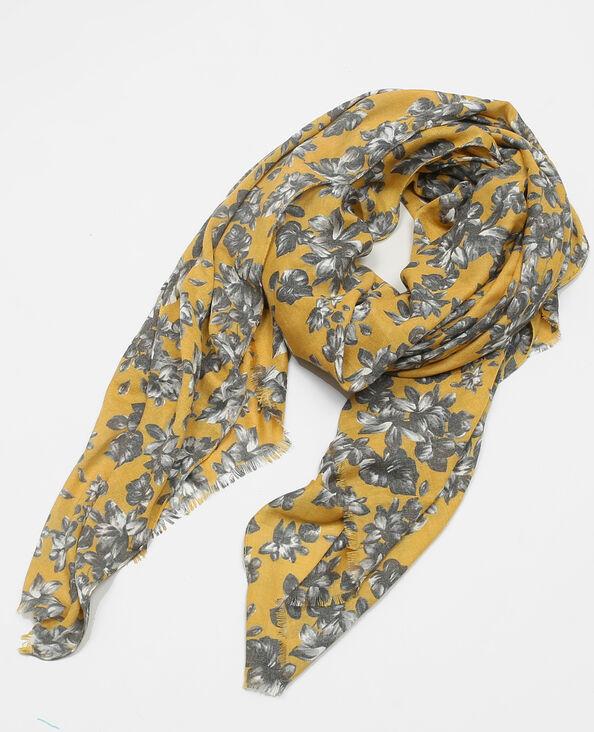 Halstuch mit Blumenmuster-Print Gelb