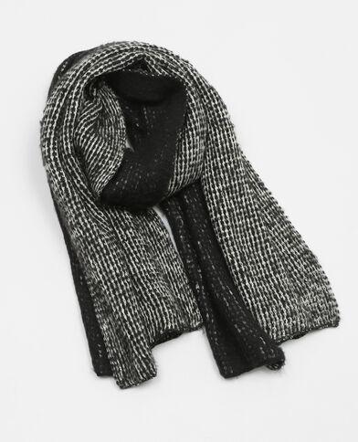 Echarpe tricot ultra doux noir