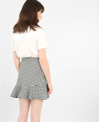 T-shirt motif rétro blanc