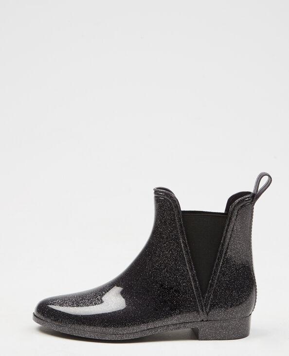 Boots chelsea glitter bleu marine