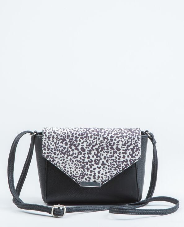 Boxy-Tasche mit Leoparden-Motiv Schwarz