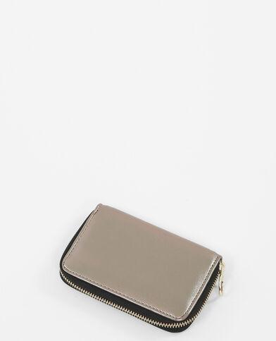 Metallic portemonnee zilvergrijs