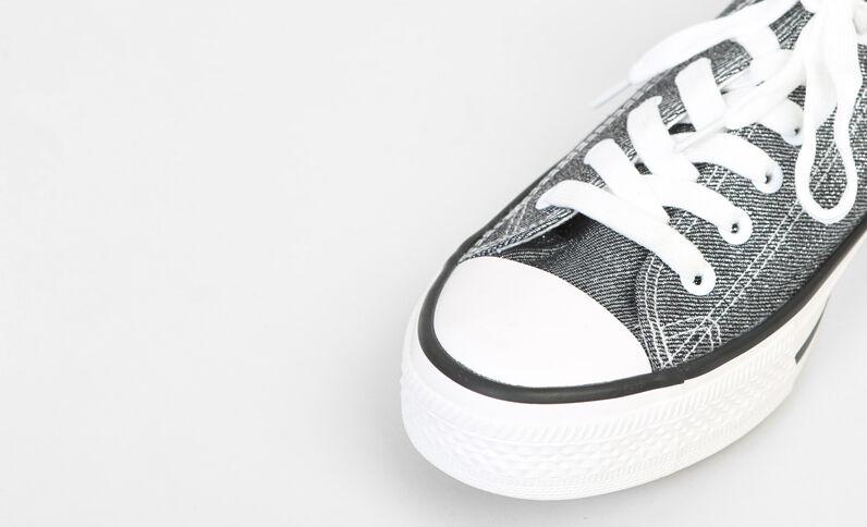 Scarpe da basket in tela iridata nero