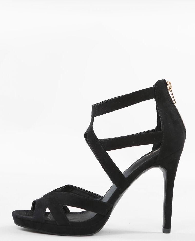 sandaletten mit absatz und ajour muster schwarz 988061899a08 pimkie. Black Bedroom Furniture Sets. Home Design Ideas