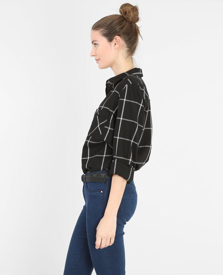 chemise carreaux noir 561164899b29 pimkie. Black Bedroom Furniture Sets. Home Design Ideas