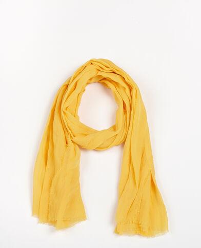 Echarpe fine jaune