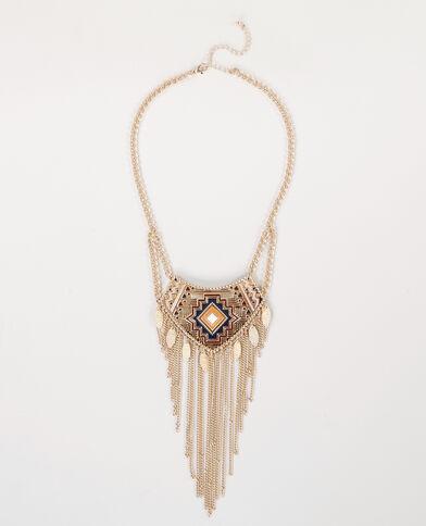 Collar largo bohemio dorado