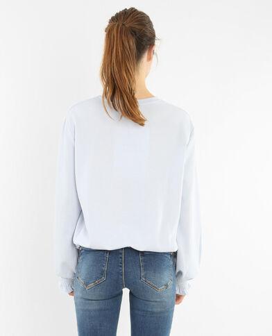Gesmoktes Sweatshirt Blau