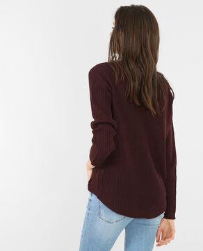 Pullover mit rundem Halsausschnitt Granatrot