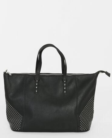 Borsa bowling con borchie nero