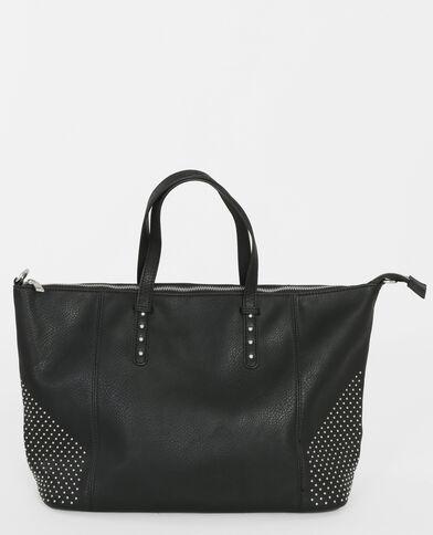 Bowling-Tasche mit Nieten Schwarz