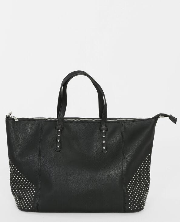 Bolso bowling con tachuelas negro