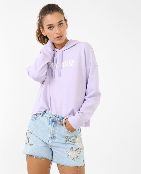 Sweater met tekst violet