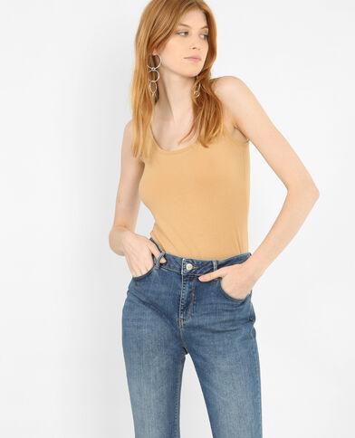 Camiseta de tirantes básica beige arena